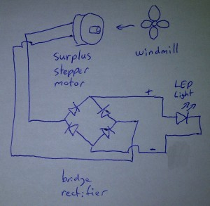 Toy Windmill Generator Circuit