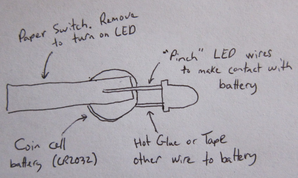 Paper Switch for LED