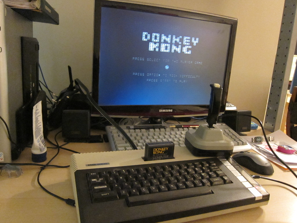 Donkey Kong on an Atari 800XL
