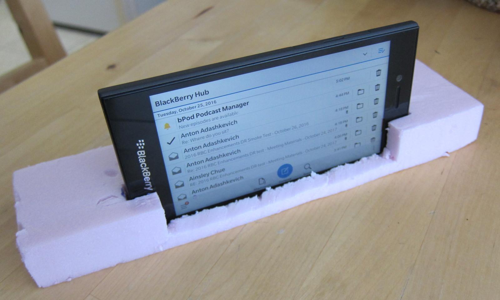 Foam Prototype of Mobile Phone Mount