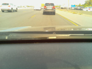 Photo from Pi Dashcam while car is moving.