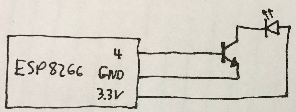 ESP8266 IR Remote Circuit